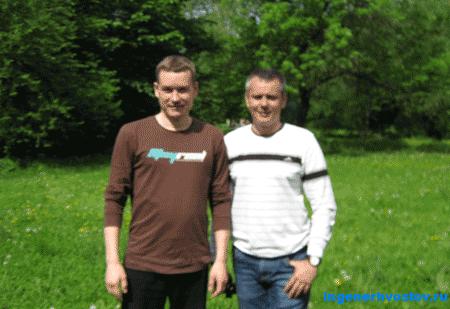 Никитин Александр и Хвостов Андрей в Екатерингофском парке