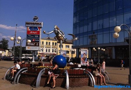 Вблизи нижегородского железнодорожного вокзала