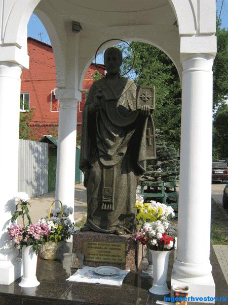Памятник Николе Угоднику в Самаре на месте стояния Зои