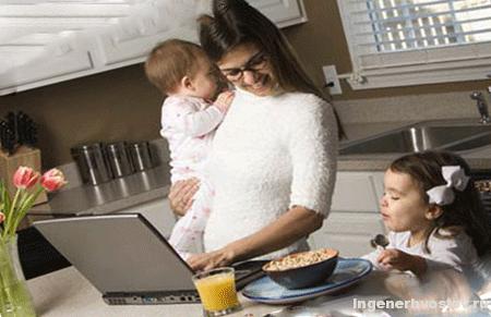 работа в интернете для мам