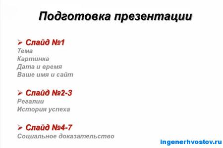 слайды презентации