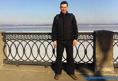 Хвостов Андрей на Волге в марте