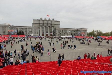 Площадь Куйбышева 9 мая 2015