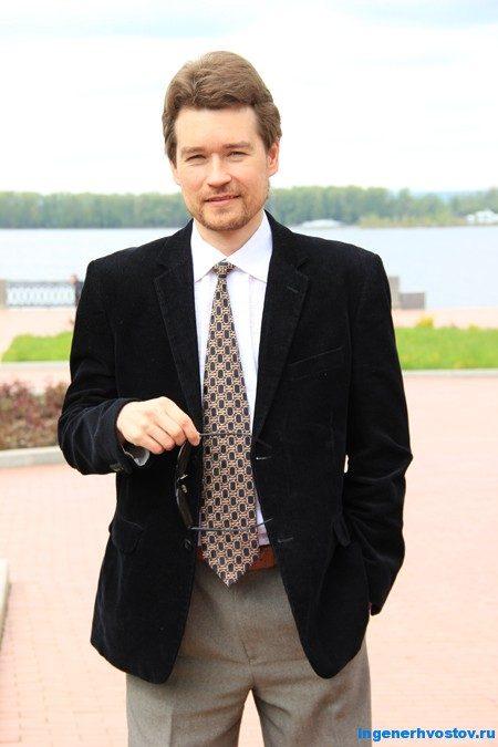 Андрей Хвостов у реки Волга