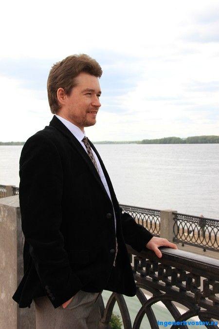 Андрей Хвостов на реке Волга