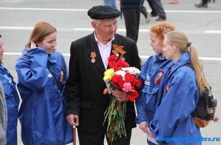 Ветеран на дне Победы