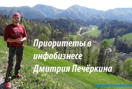 Приоритеты в инфобизнесе. 10 вопрос интервью с Дмитрием Печёркиным