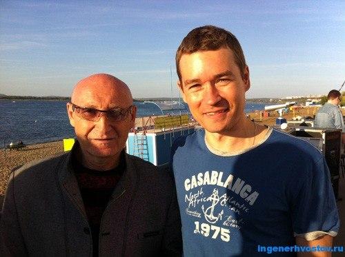 Аркадий Соловейчик и Андрей Хвостов на дне города в Самаре-2015