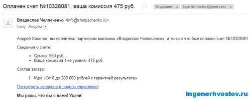 Партнёрская программа Челпаченко
