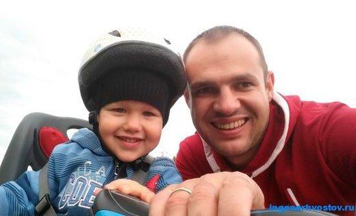 Андрей Цыганков посвящает всё своё свободное время воспитанию сына