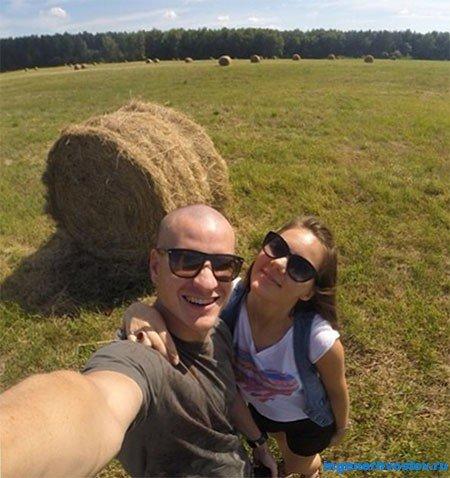 Алексей Толкачёв с женой