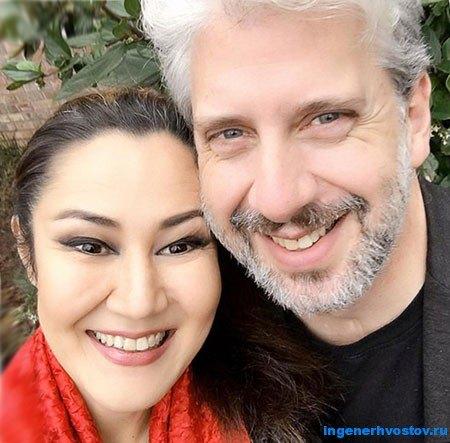 Алла Фолком - с мужем