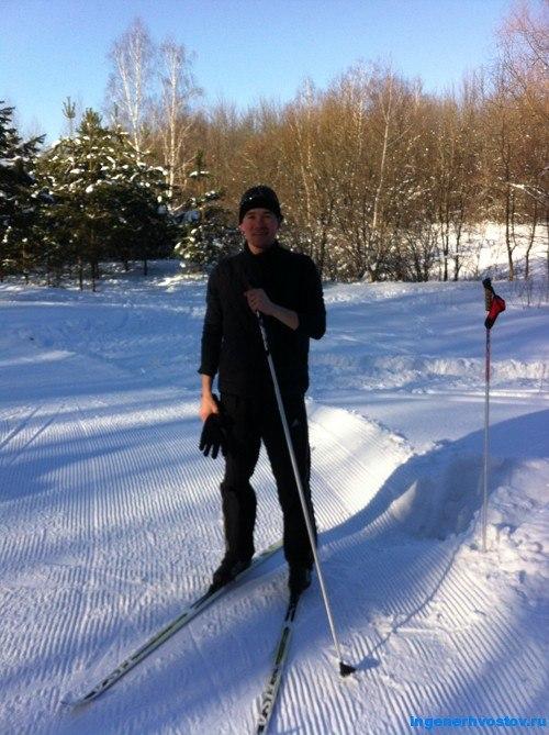 Андрей Хвостов, на лыжах в Дубраве