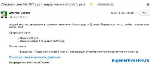 Партнёрская программа Дмитрия Зверева