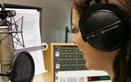 Работа на радио - диктор