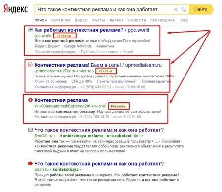Что такое контекстная реклама в Интернете, как она работает