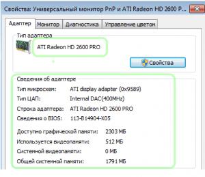 ATI видеокарта