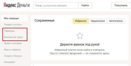 вывод наличных с Яндекс Деньги