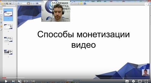 Монетизация видео на Ютубе