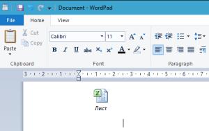 Как создать таблицу в Word Pad
