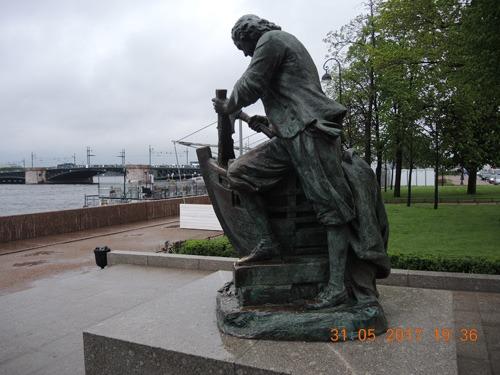 Петр Первый на набережной СПб