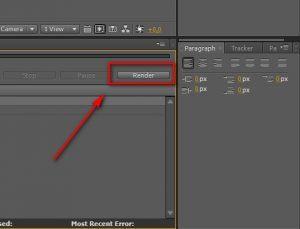 Как рендерить в Adobe After Effects