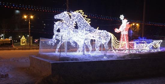 Проспект Ленина в Самаре на новогодние праздники