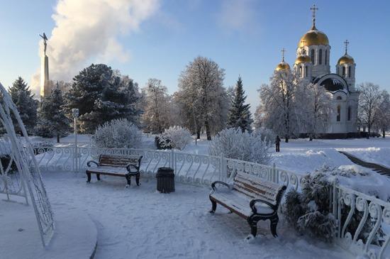 Зимняя площадь Славы в Самаре