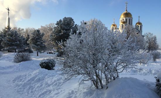 Зимняя площадь Славы в Самаре-2