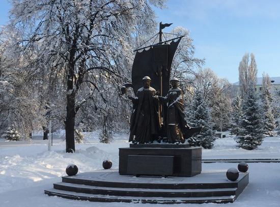 Зимняя площадь Славы в Самаре-4
