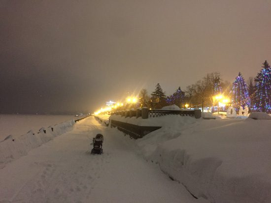 Набережная Волги зимой, Самара