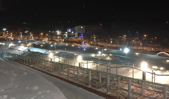 Вид с площади Славы зимой, Самара