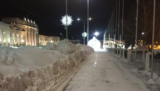 Площадь Куйбышева в Самаре, зима 2019