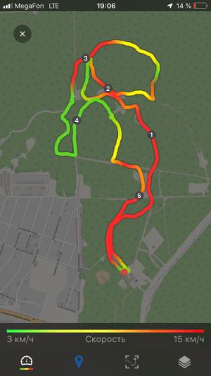5 км на лыжах по сложной спортивной трассе