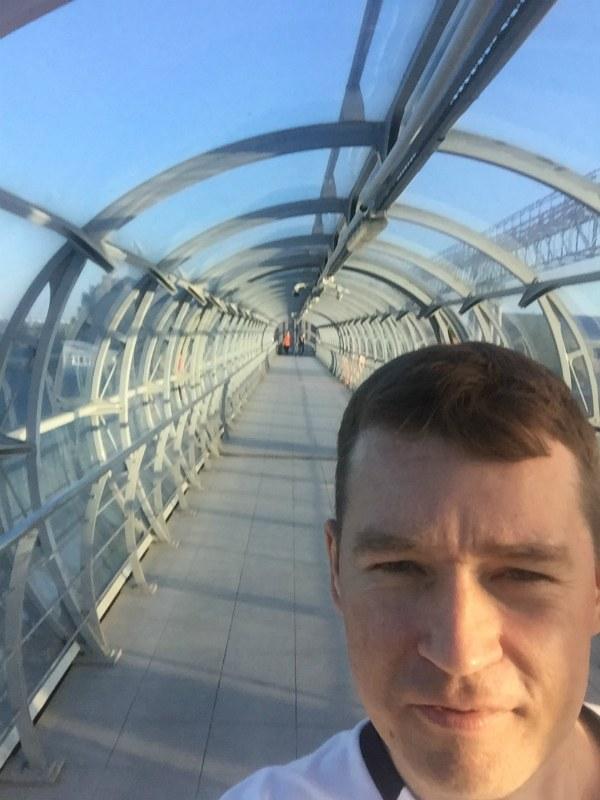 Пешеходный мост в Самаре