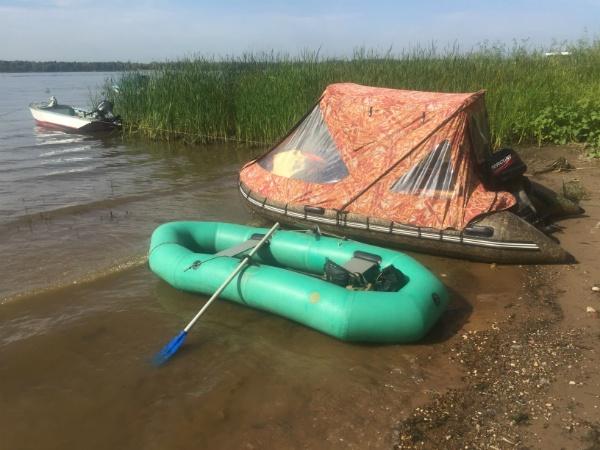 Надувная лодка Язь-2 на Волге