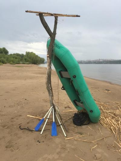 Надувная лодка Язь-2 по Волге