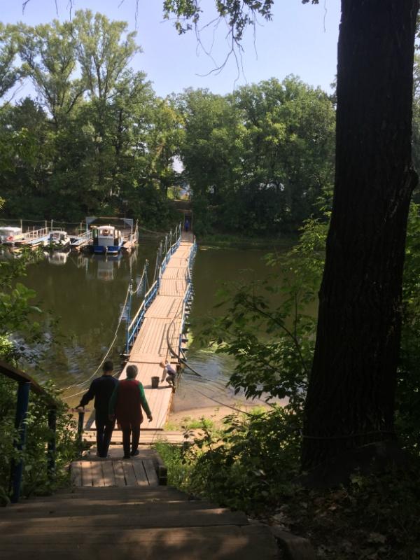 понтонный мост базы отдыха Искра