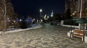 Набережная Волги в Самаре в декабре-2