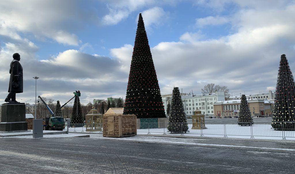 Площадь Куйбышева в Самаре в декабре 2019