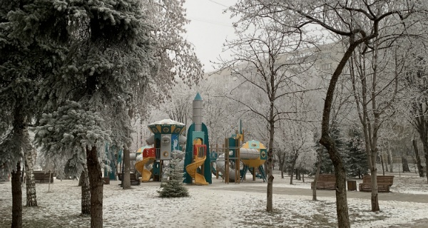 Самарский сквер Фадеева около козловского дома в декабре 2019