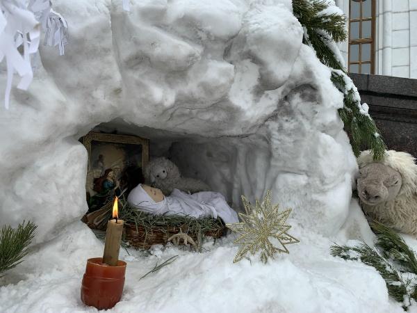 Инсталляция рождественская в Самаре