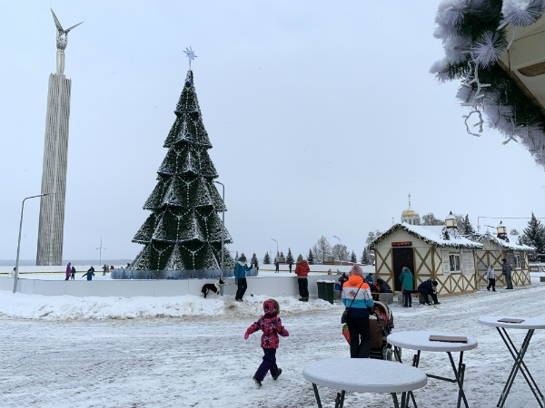Площадь Славы в Самаре. январь 2020