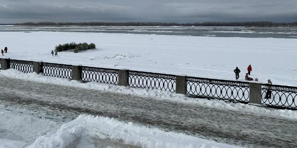 Вскрылась Волга в середине зимы