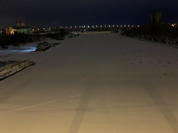 Река Самара с нового фрунзенского моста в Самаре