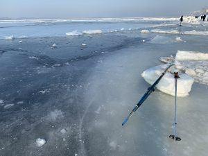 Лёд на Волге, февраль 2020