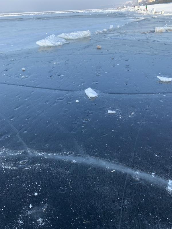 Лёд на Волге в Самаре