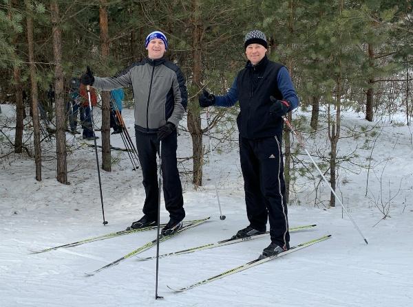 На туристической трассе  лыжной базы Чайка