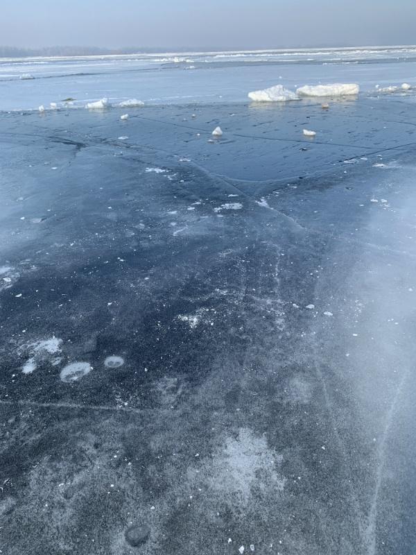 Самара, волжский лёд в феврале