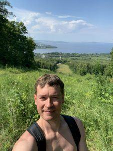 Андрей Хвостов на горе Светёлка